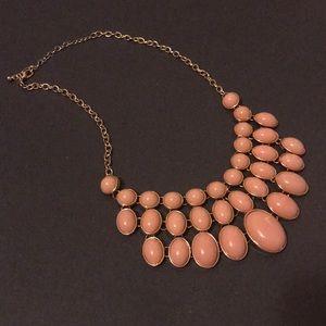 NWOT Blush & Gold Statement Necklace